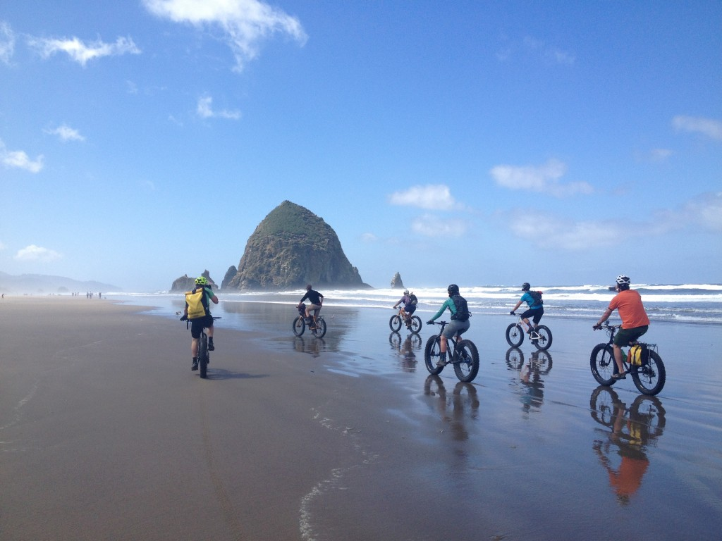 fat biking oregon coast